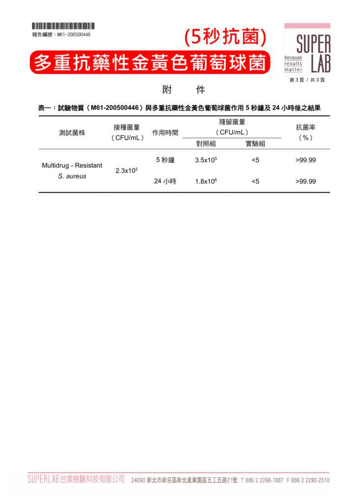 台美檢驗-多重抗藥性金黃色葡萄球菌
